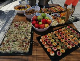 corporate event - food and drinks