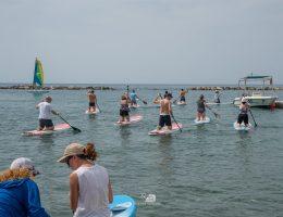 group games at the sea